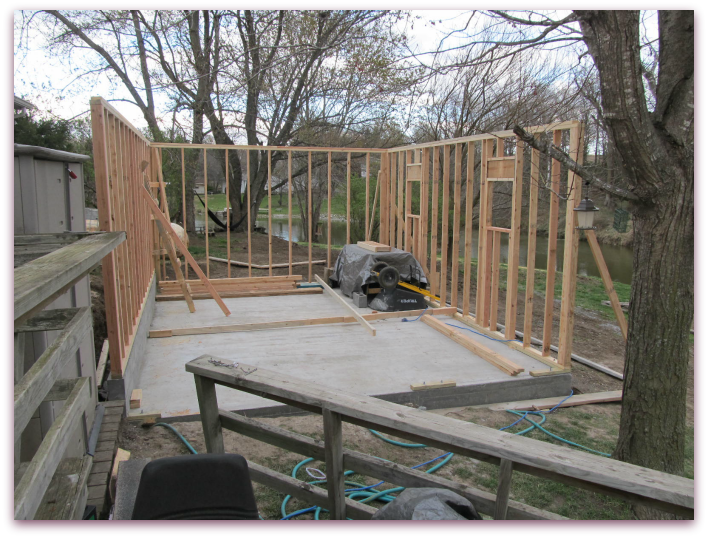 Building a Workshop: Framing Walls