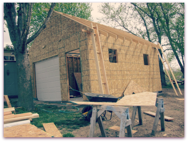 Building a Workshop: Roof Trusses & Gables